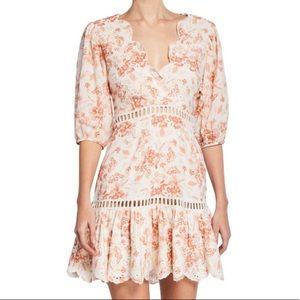 SAYLOR Taya Floral V-Neck Mini Dress XS